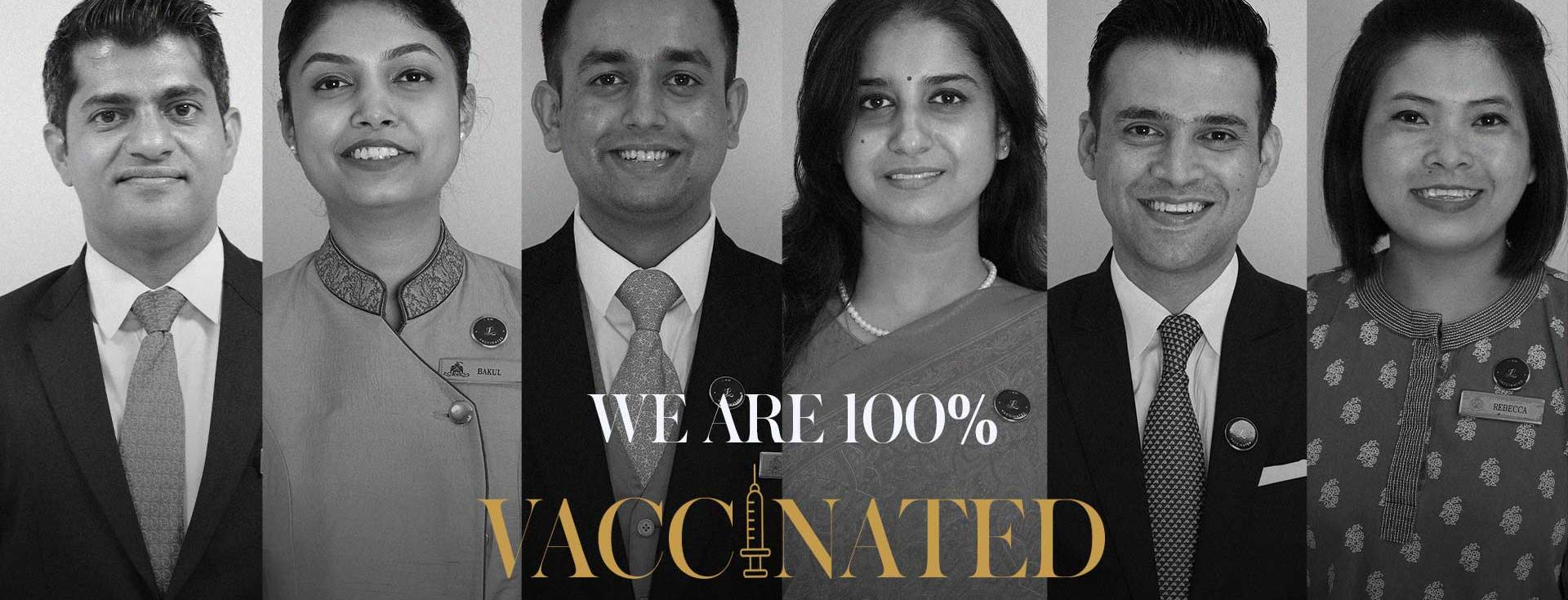 THE LEELA PALACES, HOTELS AND RESORTS ANNOUNCES COMPLETE VACCINATION OF ALL ITS ELIGIBLE ASSOCIATES